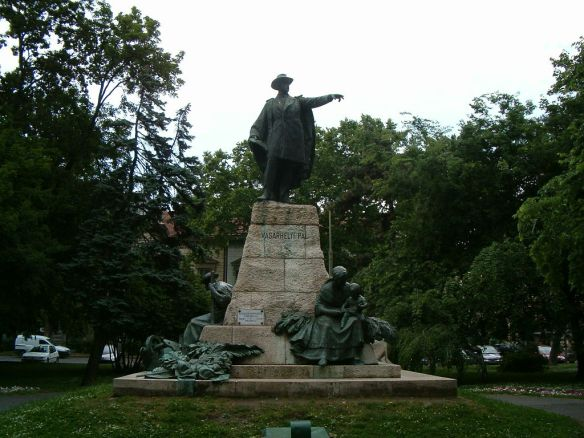Statue of Pal Vasarhelyi in Szeged - the engineer who tried to tame the Tisza