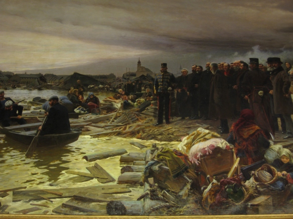 Szeged and the devastation of the 1879 flood - painting by Pal Vágó (Ferenc Mora Museum)