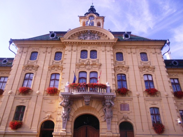 Szeged's Varoshaza (Town Hall) - one of numerous architectural beauties in the city
