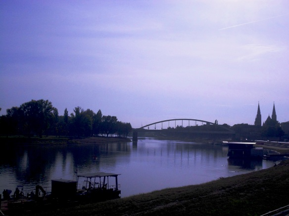 The Tisza River at Szeged - calm for now