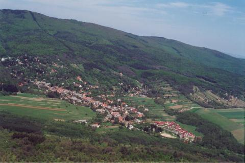Aerial view of Velem, Hungary in the Kozseg Mountains (Credit: Civertan)