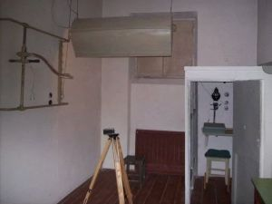 The room where prisoners at Lontskogo were photographed