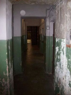 One of the prison corridors just beyond the entrance