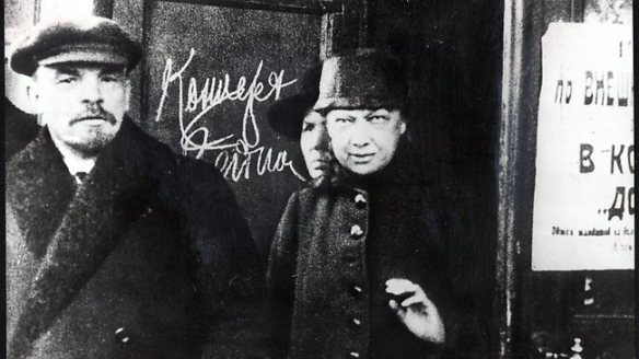 Vladimir Lenin and his wife Nadezhda Krupskaya
