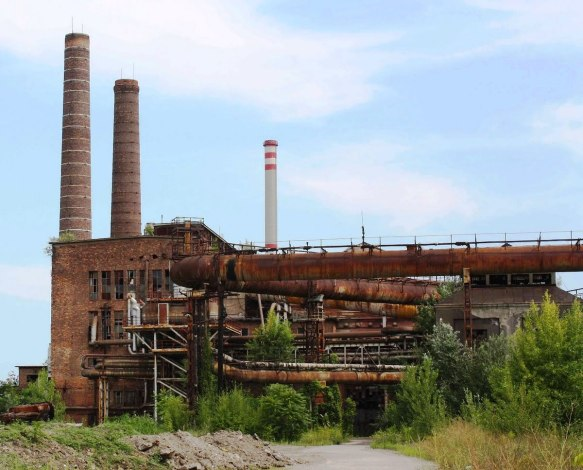 An abandoned factory in Miskolc - one of many