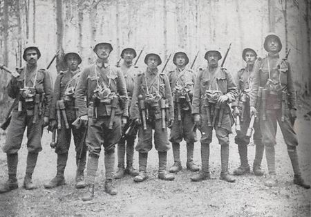 Austro-Hungarian assault troops on the Eastern Front of World War I - Hungarians or Austrians? It is hard to tell the difference