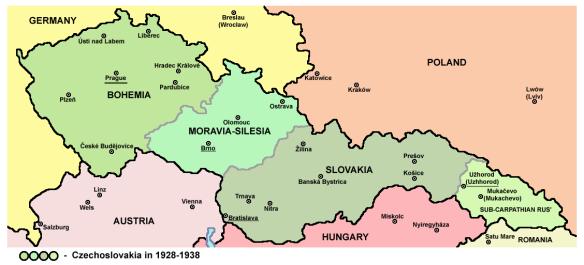 Czechoslovakia Between the Wars - Four Uneasy Pieces (Bohemia, Moravia, Slovakia & Sub-Carpathian Rus)