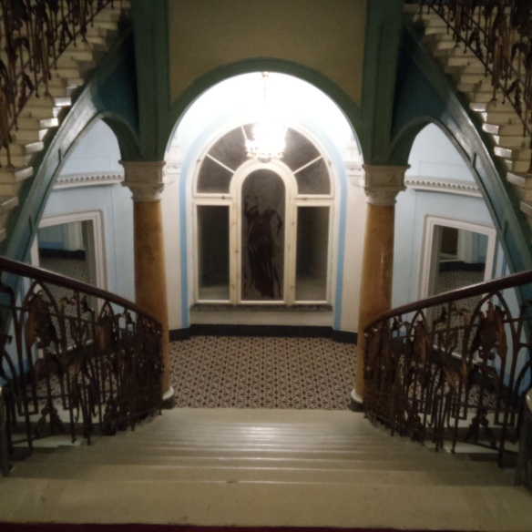 Down a staircase at the Hotel George - into the corridors of time