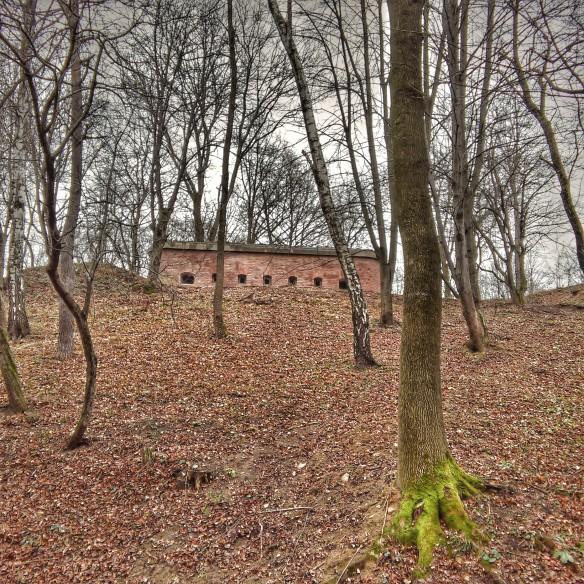 Fort XVIc Trzy Krzyze from the Przemysl complex - found in Zamkowy Park im. Maraiana Stronskiego