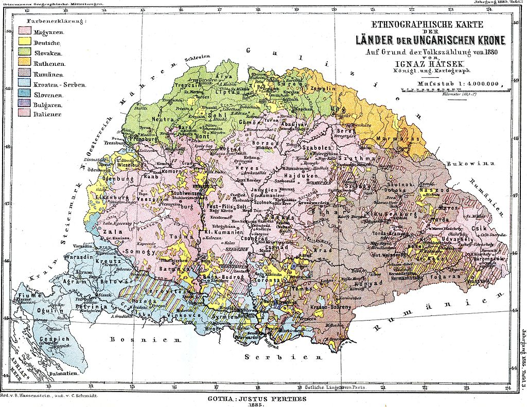 Kingdom of hungary europe between east and west map of the kingdom of hungary showing the linguistic makeup according to the 1880 census gumiabroncs Images