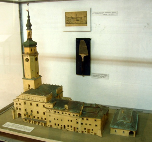 Model of the Lemberg Town Hall as it looked in 1826