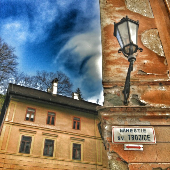 One World Fades Into Another - A scene looking up and out from a corner in Banska Stiavnica