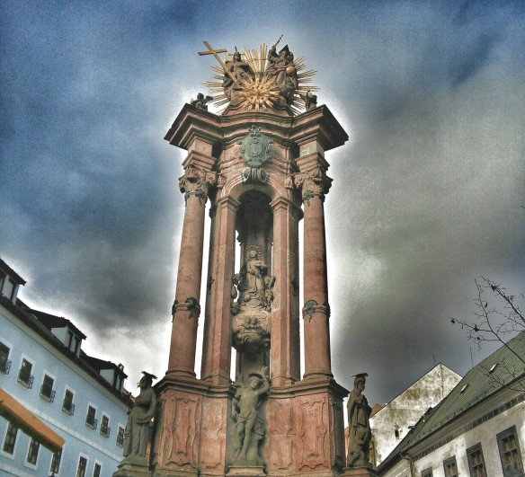 The Baroque Plague Column in Namestie sv Trojice (Holy Trinity Square)