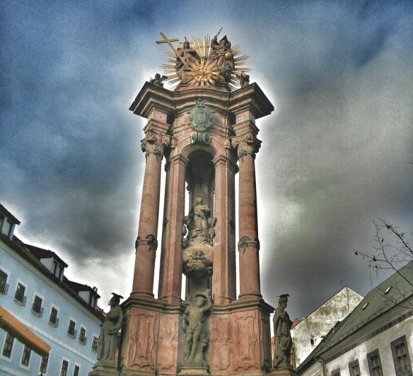 The Baroque Plague Column in Namestie sv Trojice (Holy Trinity Square)