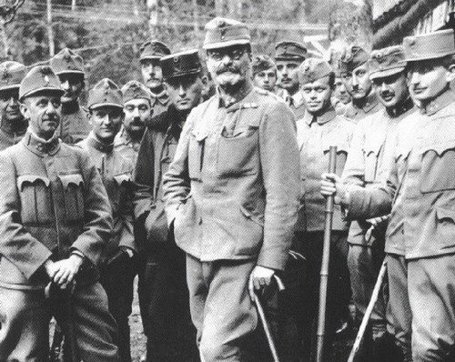 Count Istvan Tisza with Hungarian Soldiers on the Italian Front in 1917