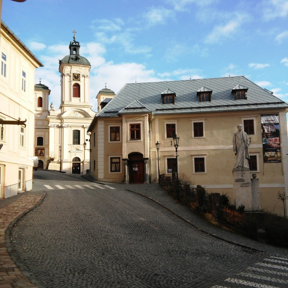 Street in the historic mining city of Banska Stiavnica