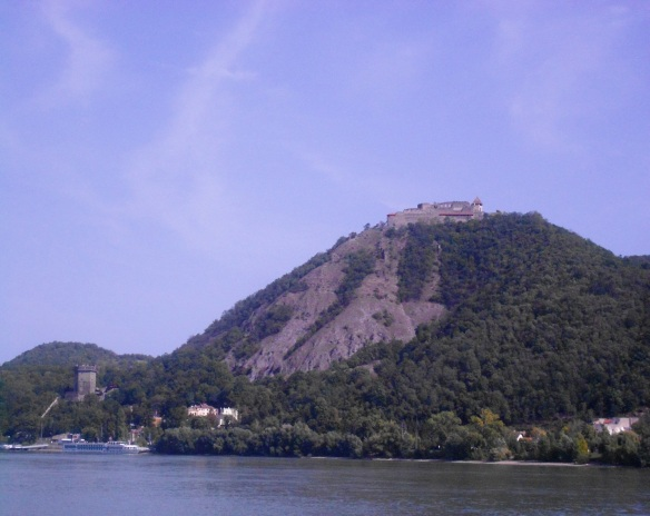 Visegrad as seen from the east side of the Danube River