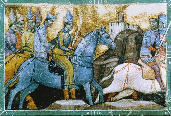 Hungarian King Béla IV fleeing from the Mongols