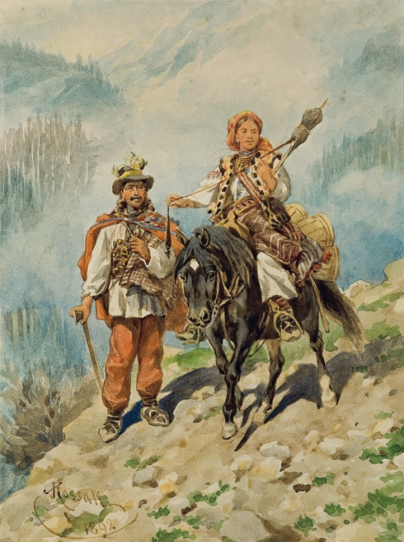 Hutsuls travelling