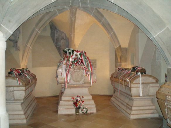 Ilona Zrinyi is now buried beside her son Ferenc Rakoczi II at St. Elisabeth's Cathedral in Kosice, Slovakia