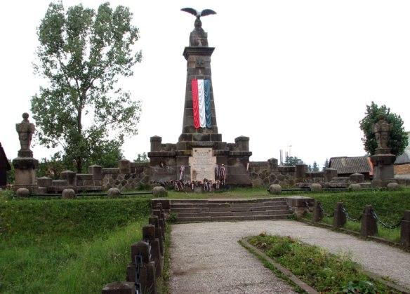 Monument to the Siculicidium in Madefalva (Siculeni, Romania)