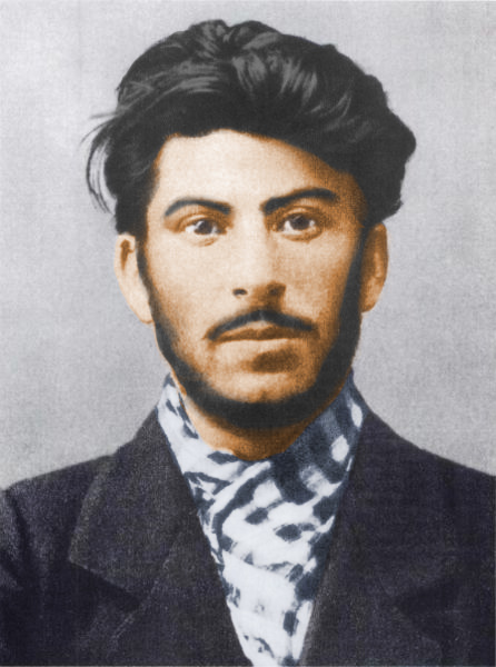 Iosif Jughashvili (Josef Stalin) in 1902 - this photo was taken a year after he abandoned his job at the Tiflis Observatory