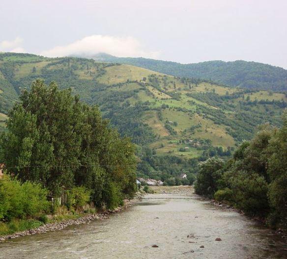 The Upper Tisza at Rakhiv, Ukraine