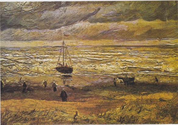 Beach at Scheveningen in Stormy Weather by Van Gogh