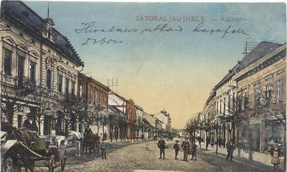 Calm before the storm - Sátoraljaújhely prior to World War I