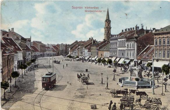 Postcard of Sopron at the beginning of the 20th century