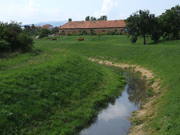 Sátoraljaújhely - Slovenské Nové Mesto - the Ronyva stream marks the border between Hungary and Slovakia