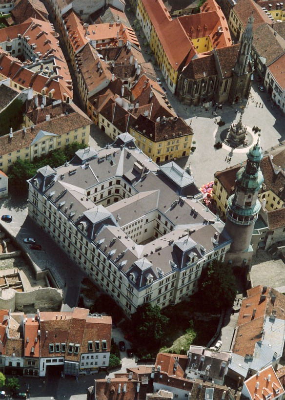 The center of Sopron, Hungary