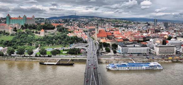 Bratislava - Slovak capital on the edge of Austria