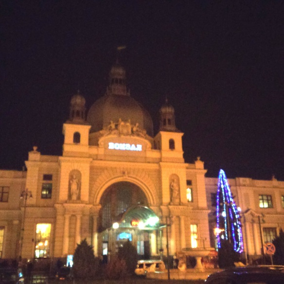 Hours before dawn - the Lviv Railway Station on a cold December morning