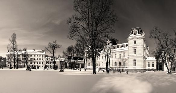 Potocki Palace in the winter
