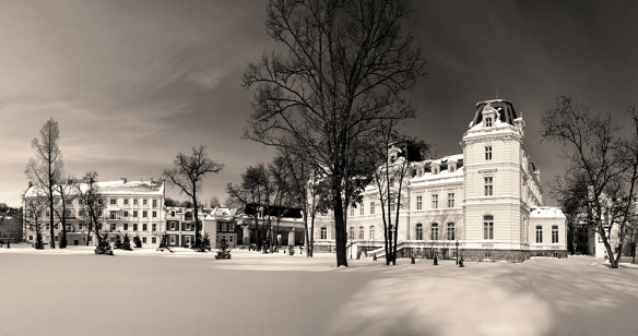 Potocki Palace in the winter