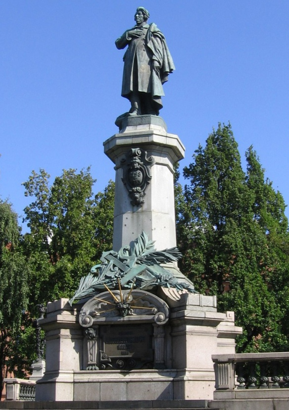 Adam Mickiewicz Monument in Warsaw