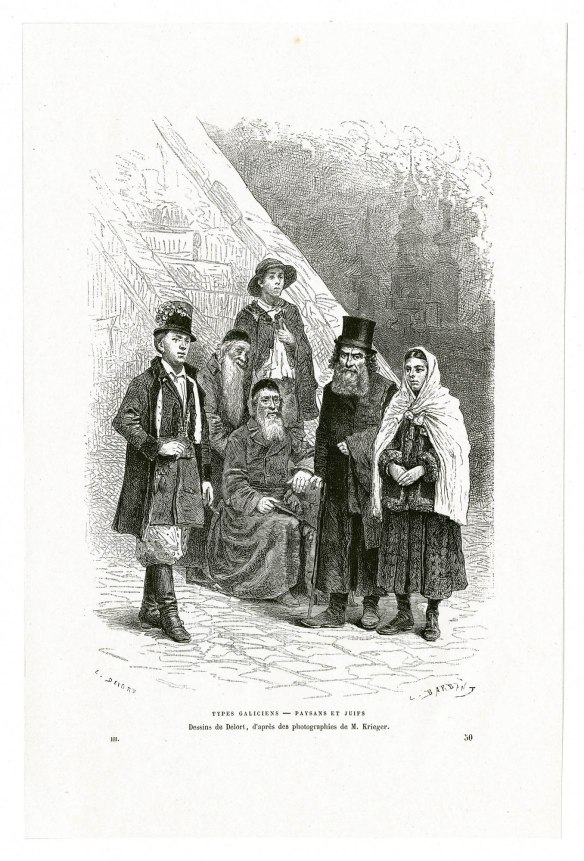 Jews and Peasants of Galicia - An artist's rendering from 1886