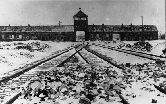Railway line into Auschwitz Concentration Camp