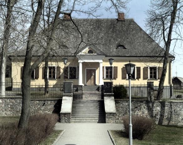 The childhood home of Adam Mickiewicz in Navahrdudak, Belarus