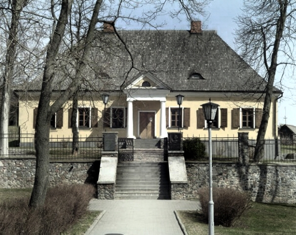 The childhood home of Adam Mickiewicz in Navahrdudak, Belarus