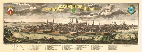 Engraving of historic Königsberg
