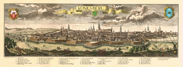 Engraving of historic Königsberg