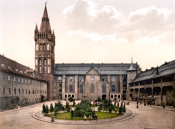 Königsberg Castle courtyard at the end of the 19th century
