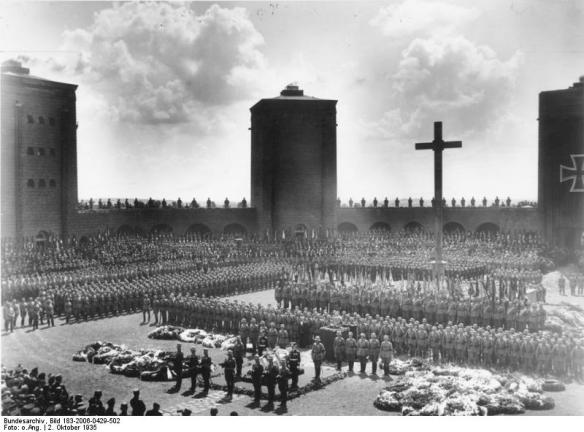 Funeral of Paul Von Hindenburg at the Tannenberg Memorial in 1934