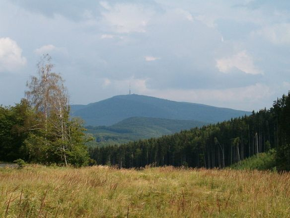 Mt. Kékes - Hungary's highest point - as seen from the slopes Galya-tető