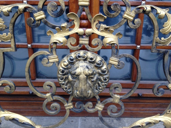 Lion on a gate in Lviv