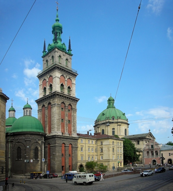 The Korniakt Tower and Dormition Church in Lviv