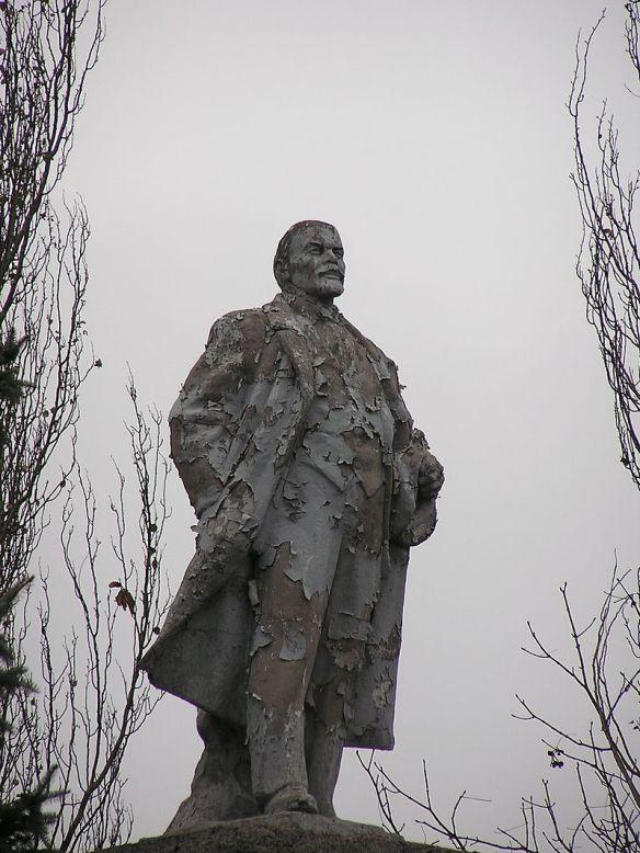 Lenin statue in Donetsk, Ukraine