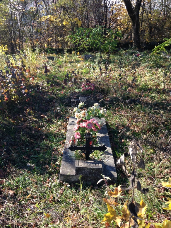 Grave in one of the outer plots of Yanivsky Cemetery